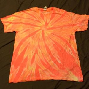 Women's handmade tye dye tee large